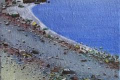 Sommernatt nordpå Akrylmaleri 41x27 cm 12000 mr