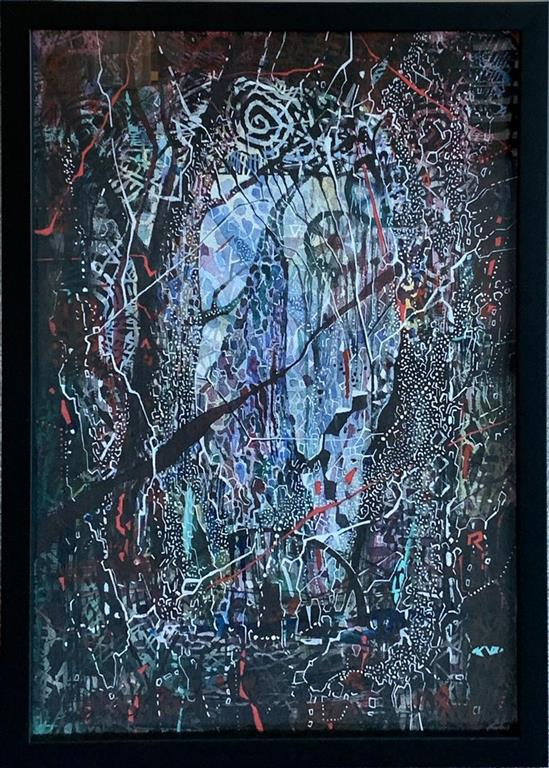 Kryss tiden Blandet teknikk, akvarell, linosnitt (51x35 cm) kr 10000 mr