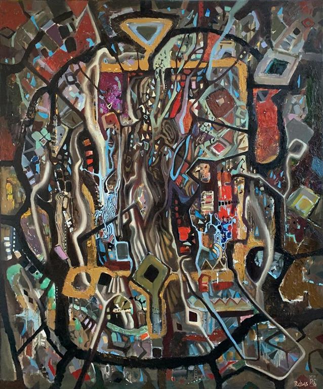 Livets tre I Oljemaleri (120x100 cm) kr 22000 ur