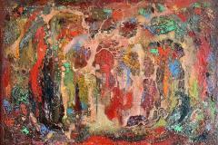 Abstrakt landskap Oljemaleri (50x70 cm) kr 9000 ur