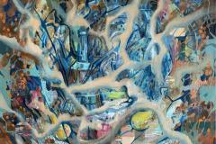 Abstrakt stilleben III Oljemaleri (80x80 cm) kr 12000 ur