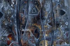Abstrakt stilleben Oljemaleri (49x39 cm) kr 5000 ur
