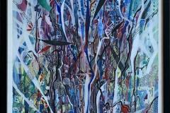 Dekorativ stilleben Blandet teknikk, akvarell, akryl, tusj (70x50 cm)ckr 17000 mr