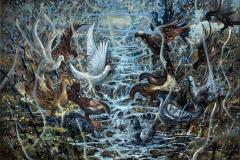 Fredsduer Oljemaleri (100x135 cm) kr 30000 ur