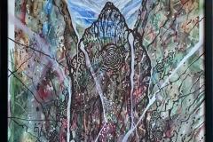 Eldgammel stein Blandet teknikk, akvarell, tusj (77x57 cm) kr 19000 mr