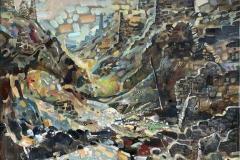 Gamle tsjetsjenske ruiner I Oljemaleri (70x69 cm) kr 12000 ur