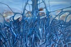 Mystisk landskap Oljemaleri (100x100 cm) kr 18000 ur