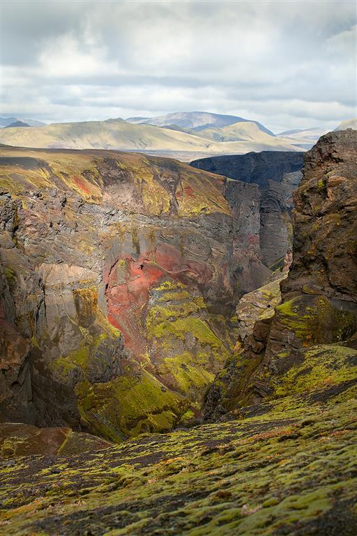 Markarfljótsgjúlfur Fotografi (95x50 cm) kr 4400 ur