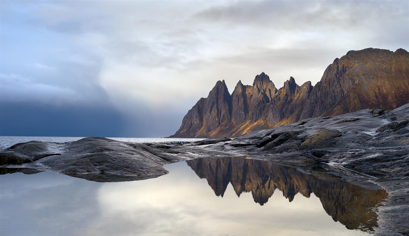 Mot Okshornan Fotografi (50x62 cm) kr 2700 ur