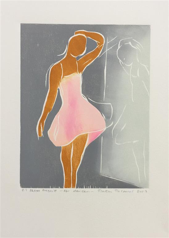 Før dansen Tresnitt (20x16 cm) kr 700 ur