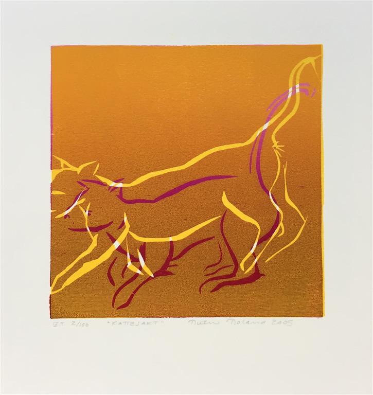 Kattejakt Tresnitt (16x16 cm) kr 650 ur