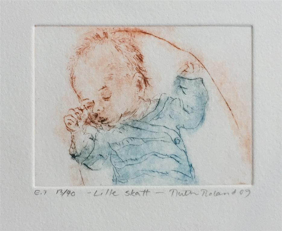 Lille skatt Etsning (8x11 cm) kr 800 ur