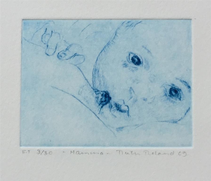 Mamma Etsning (7,5x10,5 cm) kr 800 ur