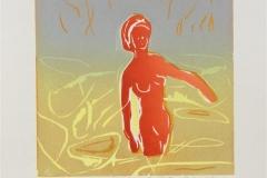 Badende kvinne Tresnitt Variant 1 (16x16 cm) kr 700 ur