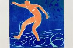 Det første badet Tresnitt Variant (16x16 cm) kr 700 ur