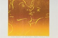 Et lite kyss Tresnitt (16x16 cm) kr 650 ur