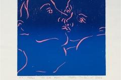 Et lite kyss Tresnitt Variant (16x16 cm) kr 650 ur