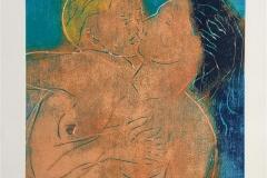 Kyss II Tresnitt (30x30 cm) kr 1900 ur
