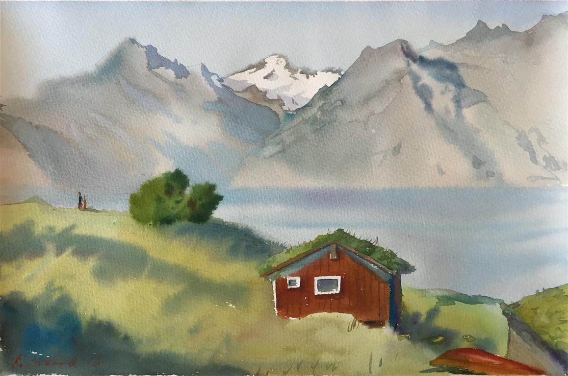 Ryfylke IV. Akvarell (36x24,5 cm) kr 1100 ur