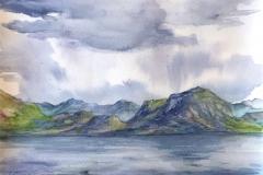 Ryfylke II. Akvarell (33x24,5 cm) kr 1000 ur