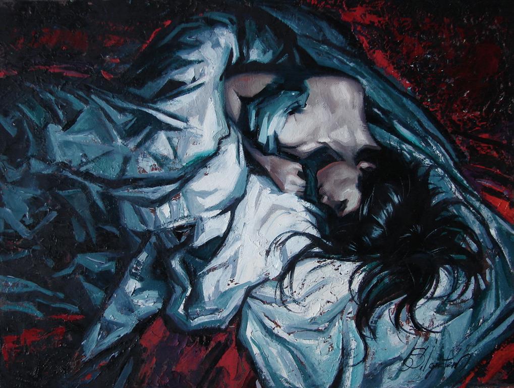 Presentiment of insomnia Oljemaleri 31x40,5 cm 5000 ur
