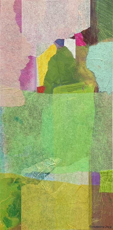 Erfaring 1-15 Collage, akryl (33x17 cm)  kr 3000 ur