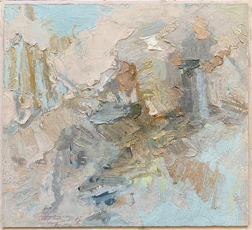1. Vinter Kartong, olje (26x26,5 cm) kr 7000 ur