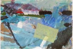 Norskekysten 7 Collage, bl.tk. (28x48 cm)