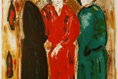 Tre damer II Litografi 43x35 cm 2000 ur