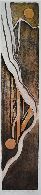 Sommer maane Litografi 65x13 cm 2000 ur