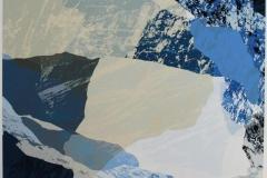 Hoeyfjell - 1 Digital blandingsteknikk 37,5x37,5 cm 2300 ur