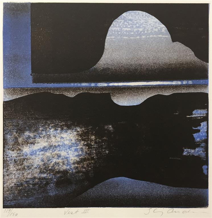 Vest III Litografi (20x20 cm) kr 1200 ur