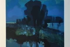 Blå time Litografi (33x33 cm) kr 3300 ur