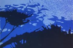 Sombras I Blå Silketrykk (58x50 cm) kr 4800 ur