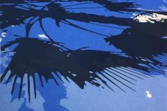 Sombras II Blå Silketrykk (58x50 cm) kr 4800 ur