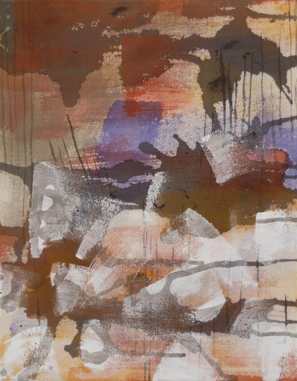 Funn Akrylmaleri (46x36 cm) kr 3400 ur