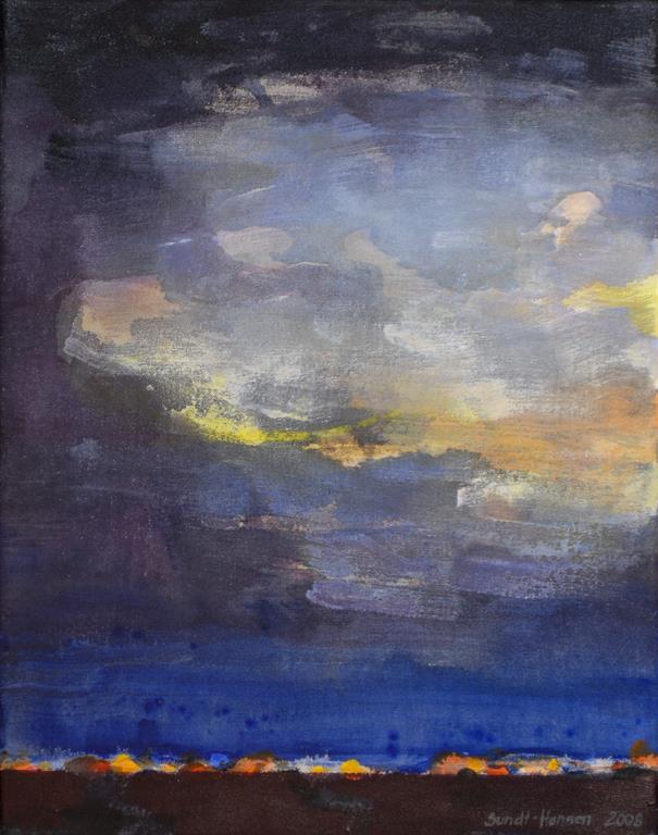 Gjenskinn Akrylmaleri (46x36 cm) kr 3400 ur