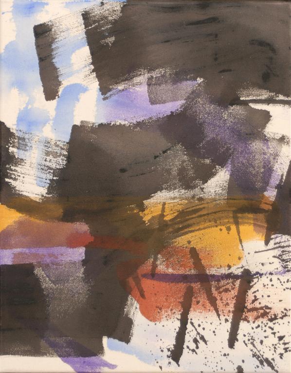 Landskap Akrylmaleri (46x36 cm) kr 3800 ur