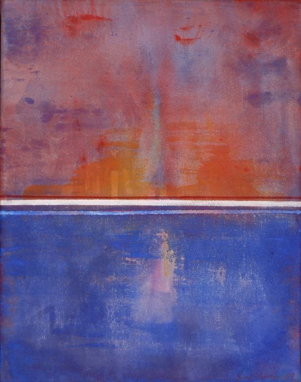 Lyset bak Akrylmaleri (46x36 cm) kr 3600 ur