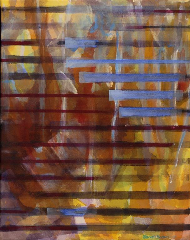 Observasjon Akrylmaleri (46x36 cm) kr 3500 ur