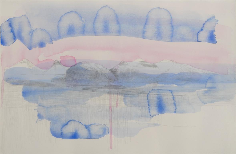 Rosa Lys Akvarell kr 4000 mr