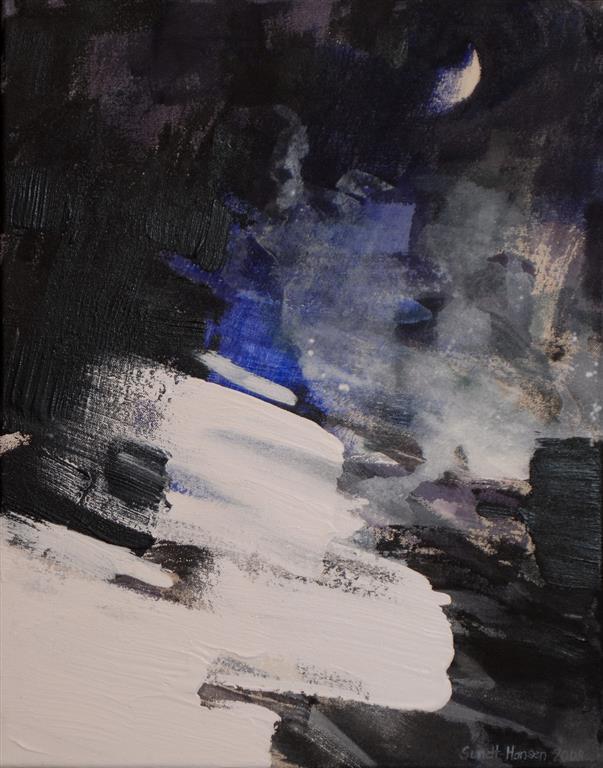 Situasjon Akrylmaleri (46x36 cm) kr 3800 ur