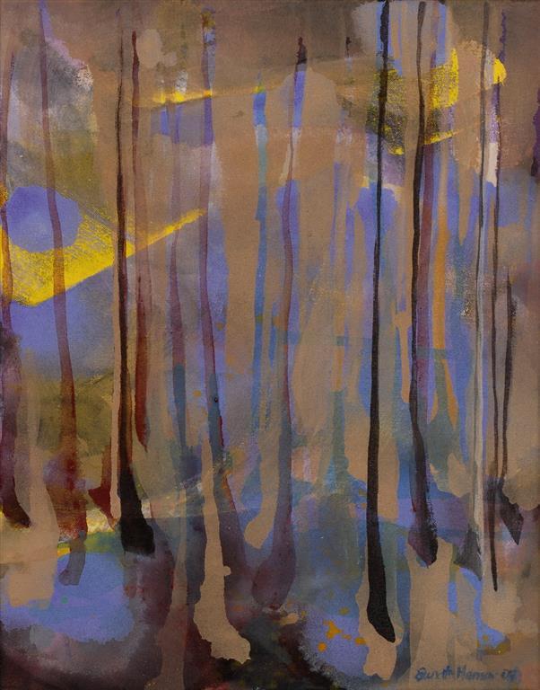 Skog Akrylmaleri (46x36 cm) kr 3400 ur