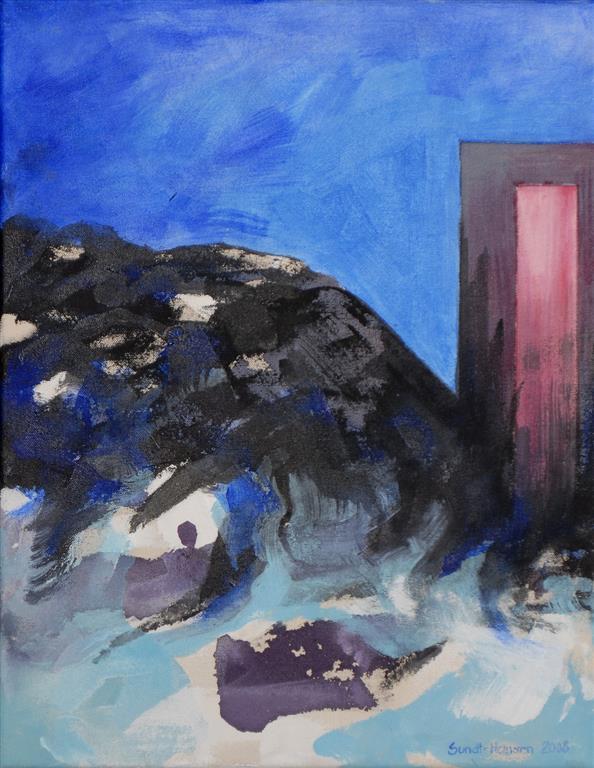 Virkelighet Akrylmaleri (46x36 cm) kr 3500 ur