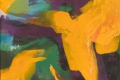 Gul Fugl Akrylmaleri (46x36 cm) kr 3500 ur