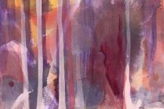 Trær Akrylmaleri (46x36 cm) kr 3400 ur