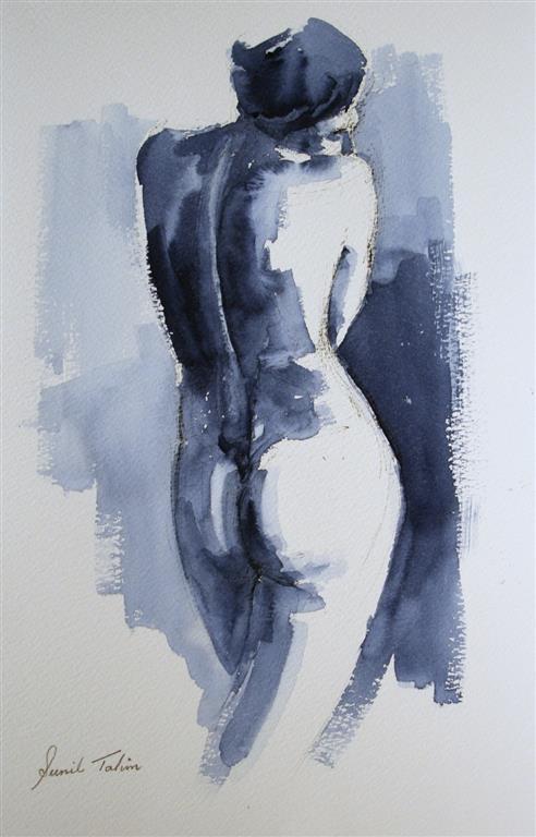 A standing nude Akvarell (38x28 cm) kr 2800 ur
