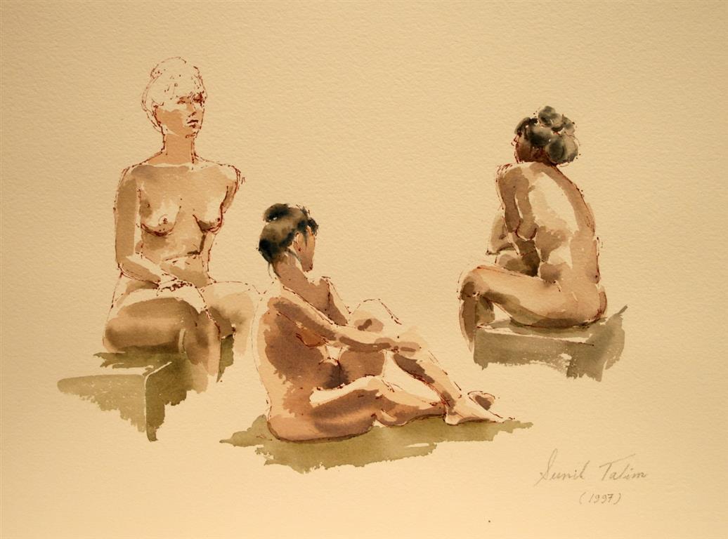 Aktstudier I Akvarell (28x38 cm) kr 4100 ur