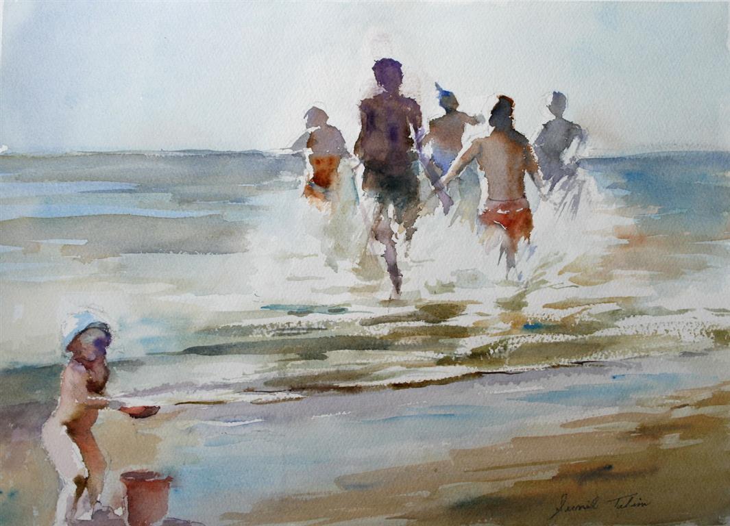 Badeglede II Akvarell (28x38 cm) kr 3200 ur