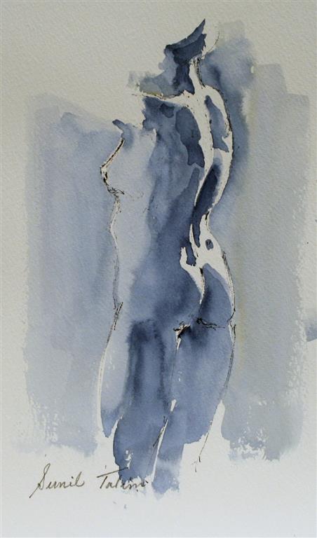 Beautiful curves Akvarell (28x17 cm) kr 1100 ur